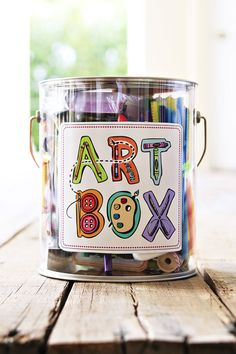 So making this for my little artists!!!  The Gift of Art (DIY Art Box and Free Artwork Download by Stephanie Corfee) via lilblueboo.com