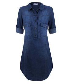 Shop sexy club dresses, jeans, shoes, bodysuits, skirts and more. Dress Outfits, Casual Dresses, Casual Outfits, Fashion Dresses, Love Jeans, Jeans Style, Jeans Dress, Shirt Dress, Denim Outfit