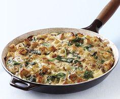 Mushroom and Spinach Skillet Strata