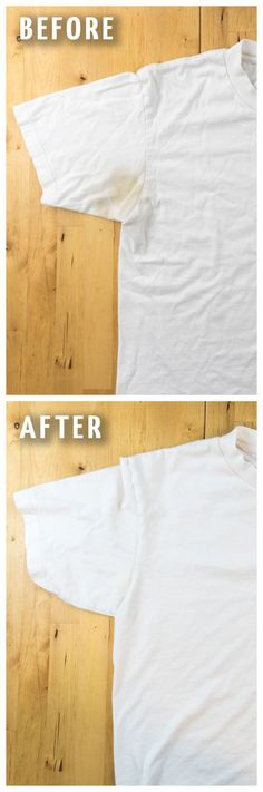 Have you ever wondered how to remove yellow sweat stains from your shirts? Here is a quick and easy way to get rid of those ugly stains plus a genius tip on how to keep them away for good!