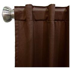 "Shantung Blackout Curtain Panel Brown (50""x108"") - Skyline Furniture"