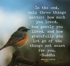 Only three things matter