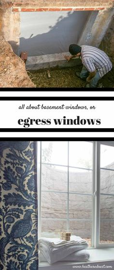 What does egress mean? Basement window info, and more on our country style guest bedroom DIY remodel www.heatherednest.com