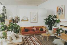 √ 21 Best Sunken Living Room Design Inspirations (Modern and Practical) - Home DIY Idea Sunken Living Room, Home Living Room, Living Room Designs, Living Room Decor, Living Spaces, Small Living, Modern Living, Red Couch Living Room, Burnt Orange Living Room
