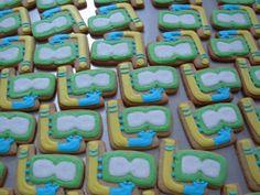 mask and snorkel iced sugar cookies #splendid summer