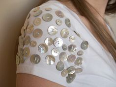 DIY T-shirt with buttons