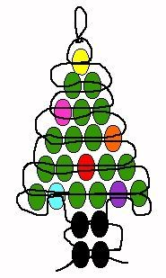 Christmas tree pony bead pattern - I think we're doing this today :)