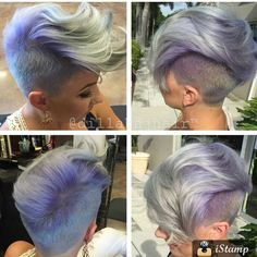 """✂Who loves pixies? sanoo Instagramissa: """"Cut : @dillahajhair Color: @katiezimbalisalon Client: @beautybylena916 Amazing: all three ✂✂✂✂✂"""""""