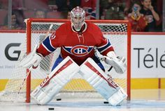 MONTREAL, QC - OCTOBER Carey Price of the Montreal Canadiens warms up prior to the game against the Detroit Red Wings in the NHL game at the Bell Centre on October 2015 in Montreal, Quebec, Canada. (Photo by Francois Lacasse/NHLI via Getty Images) Hockey Teams, Ice Hockey, Windows Seven, Olympic Hockey, Montreal Canadiens, Montreal Quebec, Nhl Games, National Hockey League, Detroit Red Wings