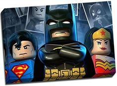 Panther Print Lego Canvas Superman Batman Wonderwoman Sup...