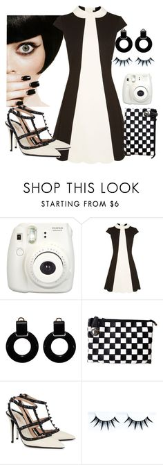 """""""60s monochrome"""" by xmoonagedaydreamx ❤ liked on Polyvore featuring Fujifilm, Karen Millen, Marni, Olivia Miller and Valentino"""
