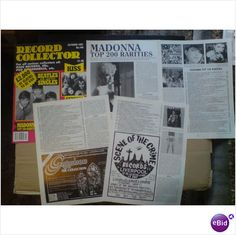 Madonna. Madonna Top 200 Rarities 5 + 1/2 page feature Record Collector magazine