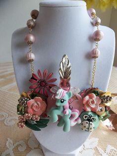 vintage My Little Pony bib necklace by gumdropglamour on Etsy, $65.00