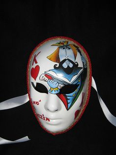 Venetian Artistic Mask dedicated to the Casinò of Venice. www.artjennifer.wordpress.com  #Venezia #Maschere #Venice #Masks #ArtisticMasks #VenetianMasks #Art #AcrilicPaintings #Carnival #JenniferEgista