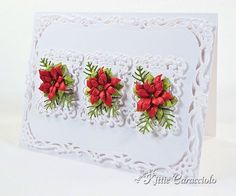 KC Poppy stamps Small Blooming Poinsettia