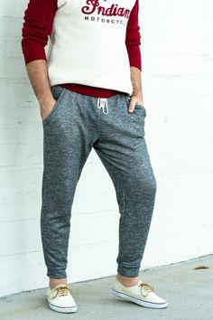 Pants and see through back shirt