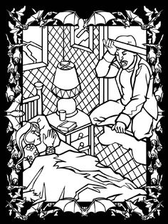3-D Coloring Book--Vampires and Zombies Dover Publications
