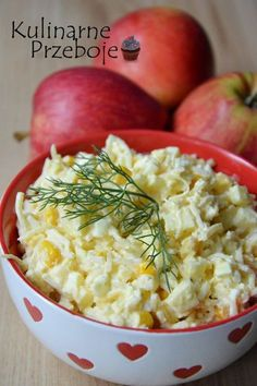 Horseradish salad with egg - Wielkanoc - Makaron Egg Salad, Potato Salad, Sandwiches, Food And Drink, Menu, Gluten, Eggs, Baking, Ethnic Recipes