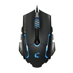 Comanro DPI 3500 LED Rainbow Breathing Color 6 Buttons Laser USB Wired Gaming Mouse for Pro Gamers,omron Micro Switch-White Comanro