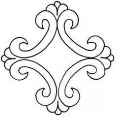 Queen charlotte quilting stencil