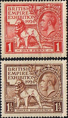 Great Britain 1924 King George V British Empire Exhibition Set Fine Mint SG 430/1 Scott 185/6 Other British Commonwealth Stamps HERE!