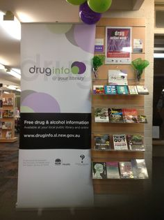 Drug Action Week display at Shellharbour Library