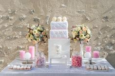 Wedd'in Design - décoration sweet table - thème rose chic - candy bar - www.weddindesign.com