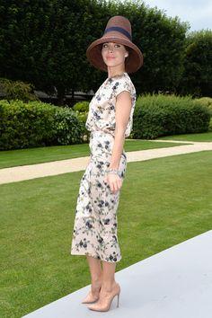 Ulyana Sergeenko at Dior Fall 2014 Haute Couture fashion show in Paris