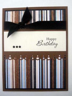 Handmade Happy Birthday card for male