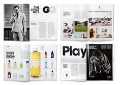 GQ STYLE GUY Page Layout Design, Magazine Layout Design, Magazine Layouts, Editorial Layout, Editorial Design, Book Cover Design, Book Design, Typography Magazine, Catalogue Layout