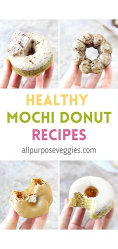 The search for the best baked mochi donut recipe continues! I love mochi in every shape or form, so I took on this challenge to create a healthier baked mochi recipe that I can enjoy without all the guilt. Here are 4 variations of healthier baked donuts #mochidonut #mochi #bakeddonuts #healthydonut #glutenfree #glutenfreedonuts Healthy Meal Prep, Healthy Baking, Mochi Donuts Recipe, Dessert Ideas, Dessert Recipes, Healthy Donuts, Gluten Free Donuts, Create A Recipe, Baked Donuts