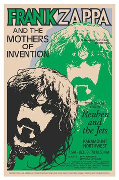 Frank Zappa and the Mothers of Invention classic rock psychedelic concert poster