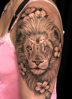 52 Ideas Tattoo Lion Rose Art For 2019 You are in the right place about tattoo dragon Here we offer Dope Tattoos, Leo Tattoos, Bild Tattoos, Pretty Tattoos, Beautiful Tattoos, Body Art Tattoos, Beautiful Lion, Tattos, Lion And Rose Tattoo