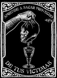 Aforismos EKO Helter Skelter Charles Manson, Occult Art, Graffiti, High Fantasy, Illustration Sketches, Urban Art, Dark Art, Blackwork, Art Inspo