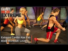 Extreme Cardio Abs Fat Blast Workout | Level 3- BeFit in 30 Extreme - YouTube