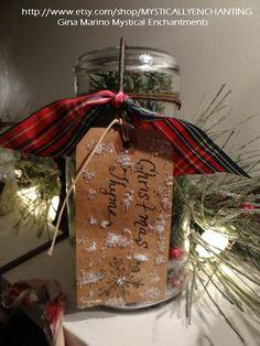 Christmas in a Jar Large Vintage Mason jar by MYSTICALLYENCHANTING, $17.00