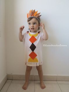 Baby Costumes, Halloween Costumes, Karneval Diy, Fancy Dress, Dress Up, Indian Costumes, Indian Costume Kids, Indian Crafts, Indian Party