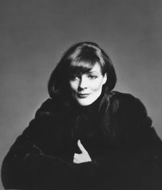 "Dame Maggie Smith: ""What Becomes a Legend Most?"" Photo for the 1980 Blackglama advert <3"