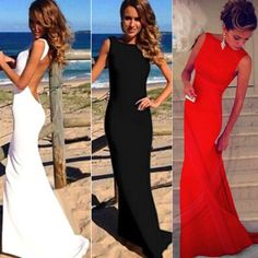 Long Formal Evening Prom Party Dress Bridesmaid Dresses Ball Gown Cocktail Dress | Clothing, Shoes & Accessories, Women's Clothing, Dresses | eBay!