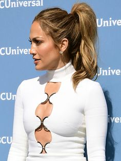 The Beauty Breakdown: 7 Ways to Pump Up Your Pony | People - Jennifer Lopez high ponytail with beachy waves