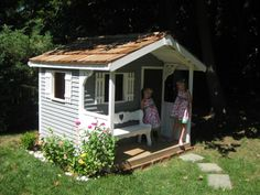 Add a touch of paint to the Cedarshed 6x6 Playhouse and you will have the perfect backyard retreat for your kids to play in. http://livingoutfitters.com/cedarshed-playhouse-6x6