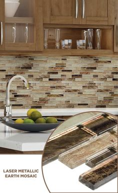 tile lowes mosaics glassmosaics backsplash AL004GREY0206
