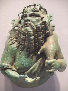 Bust of Silenus that once adorned a Roman dining couch 1st century BCE-1st century CE Bronze with traces of silver inlay by mharrsch, via Flickr