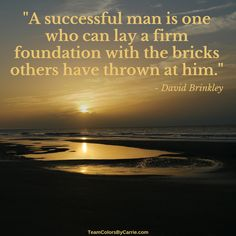 David Brinkley on building a firm #Foundation.