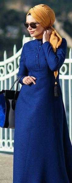 Muslima Wear 2016 DESSEN Dress Muslim Dress, Hijab Dress, Hijab Outfit, Muslim Women Fashion, Islamic Fashion, Womens Fashion, Abaya Fashion, Modest Fashion, Fashion Dresses