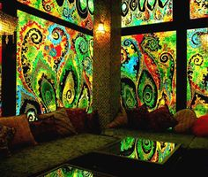 Ultimate Paisley Stained Glass Room art, window treatment, favorite art