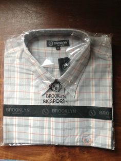 BROOKLYN KING SIZE GREY CHECKED S/S SHIRT  4XL    20/20.5   RRP £29.99  BNWT #Brooklyn #ButtonFront
