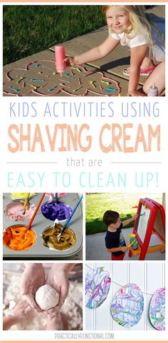 Got a can of shaving cream? Keep the kids entertained with these fun shaving cream activities that are super easy to clean up!