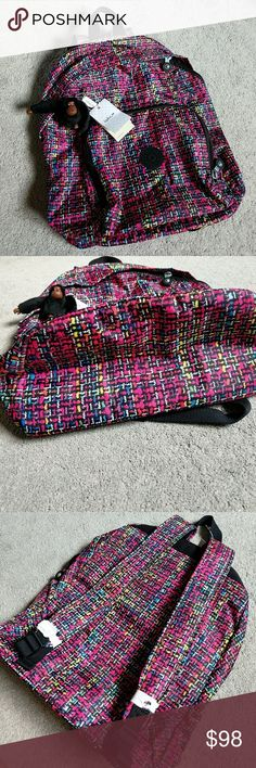 🍅Kipling Multi colored backpack Passionfruit Pink. NWT. Monkey included. Kipling Bags Backpacks