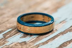 Blue Tennessee Whiskey Barrel Ring  Blue by HawkinsHandicrafts